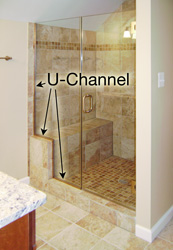 U channel shower