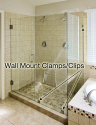 wall mount clamp shower